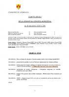 COMPTE-RENDU – Séance du 18.12.2020