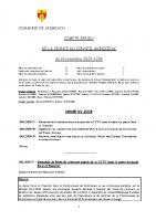 COMPTE-RENDU – Séance du 19.11.2020